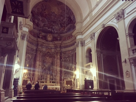 Humbling interior of St. Ignatius