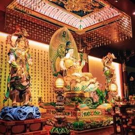 Colourful statues in every room