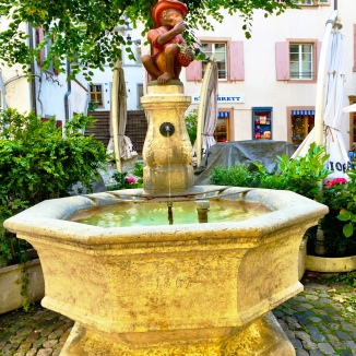 Fountains at every corner.
