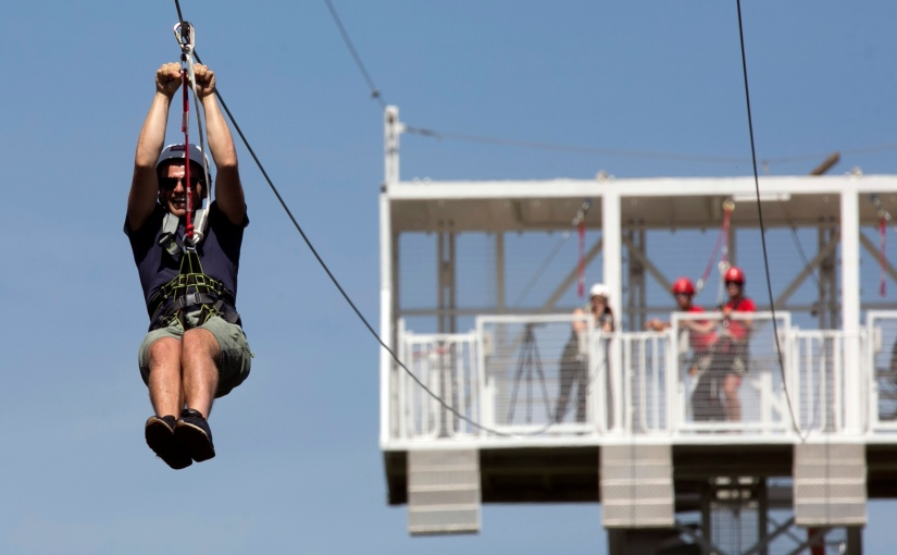 Late night zip lining might be the most fun you have this summer